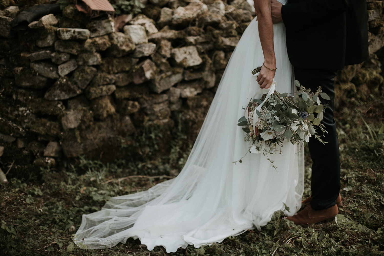 mariage dans le jardin familial
